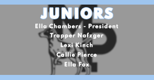 2020-21 Junior Class Officers