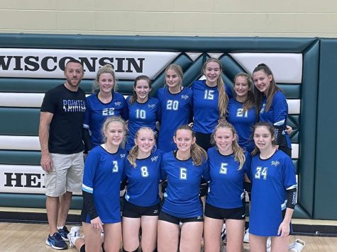 JV Volleyball Girls Champs at Wisconsin Heights Tournament